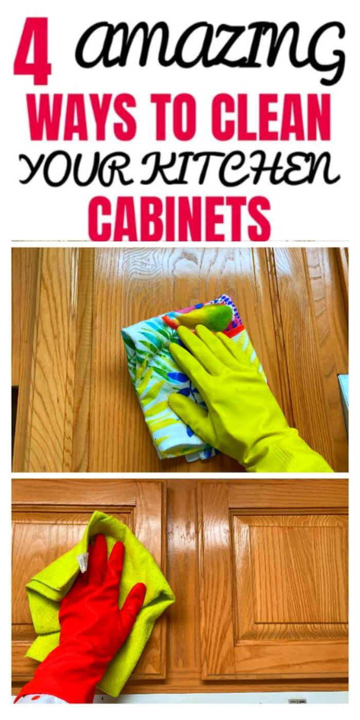 4 SPLENDID WAYS TO CLEAN YOUR WOOD CABINETS in 2020 ...