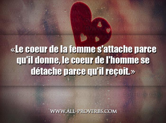 Bien-aimé Citation d'Amour : Le Coeur de la femme et de l'homme - Belle  JH35