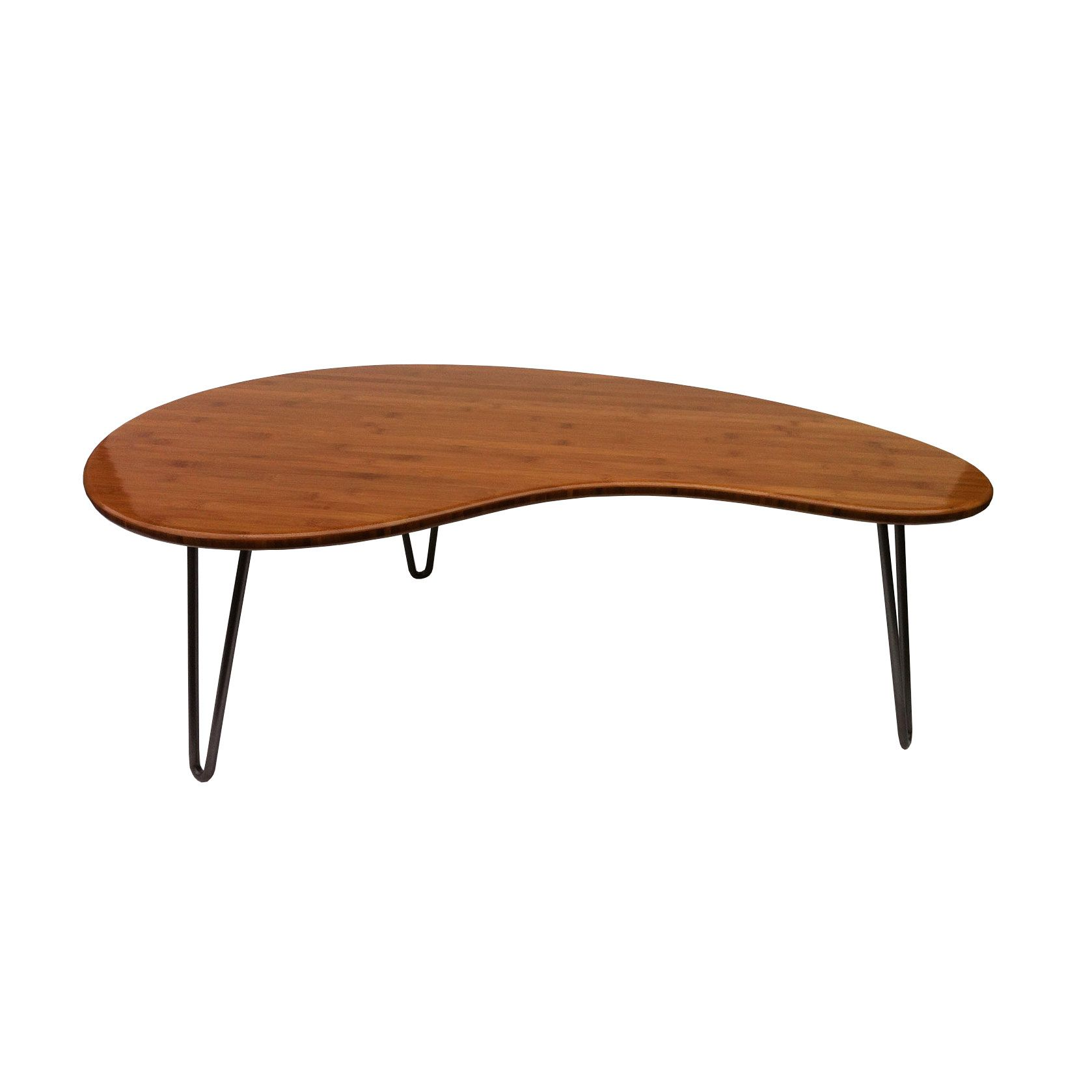 This Re Imagined Mid Century Modern Kidney Bean Coffee Table Throws Any Home Office