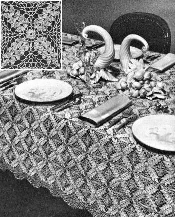 Harvest Motif Tablecloth Vintage Crochet Pattern for download ...