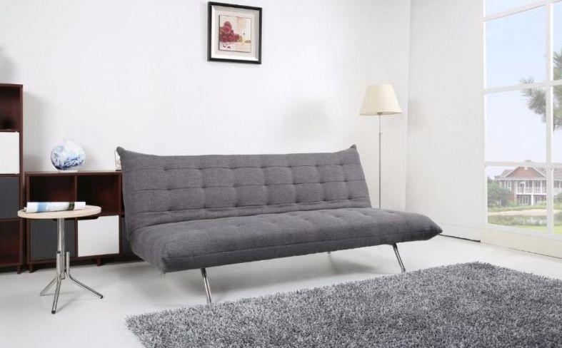 Schlafsofa Stoff Grau Sofa Couch Couchgarnitur ...