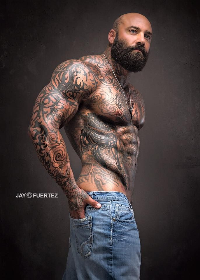 Muscles and tattoos