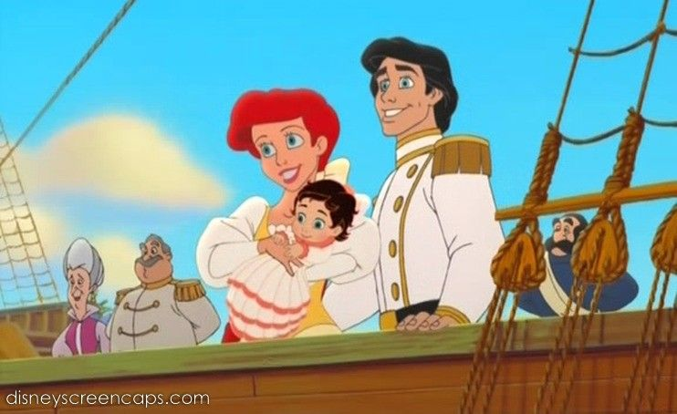 ariel,eric and melody | Disney's The Little Mermaid