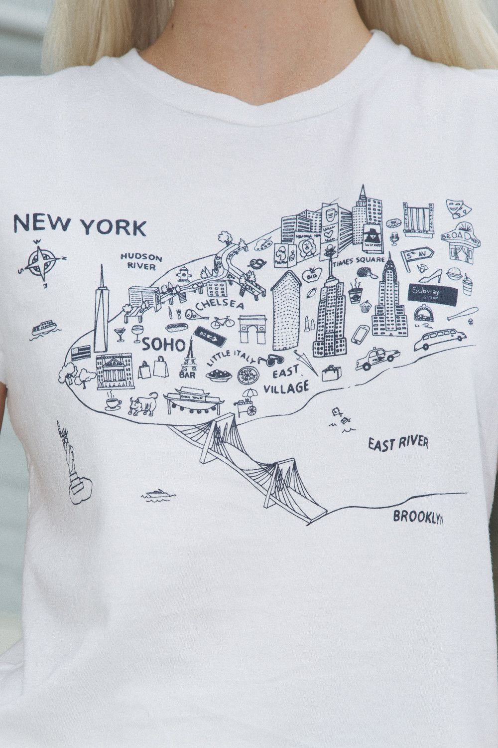 Brooklyn Subway Map Tees.Jamie New York City Map Top In 2019 Graphic Tees New York City