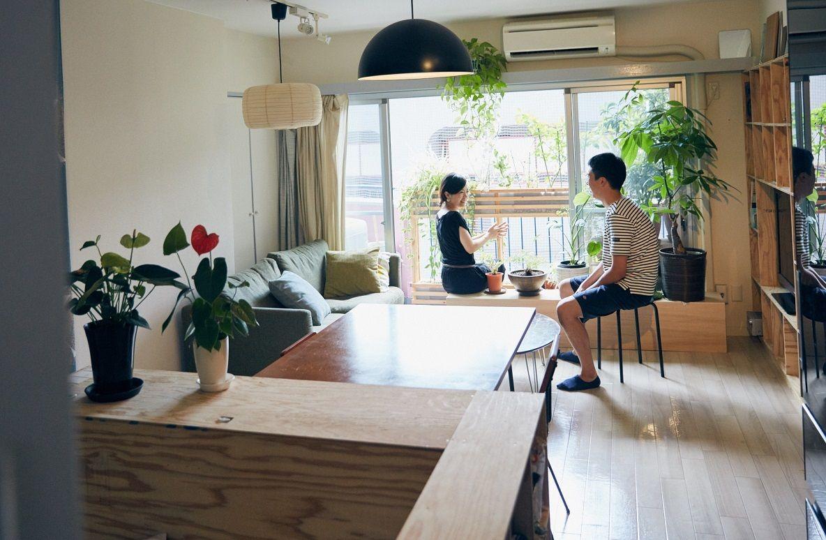 ワンルームdiyが参考になる 暮らしを手作りで組み立てる建築家夫妻