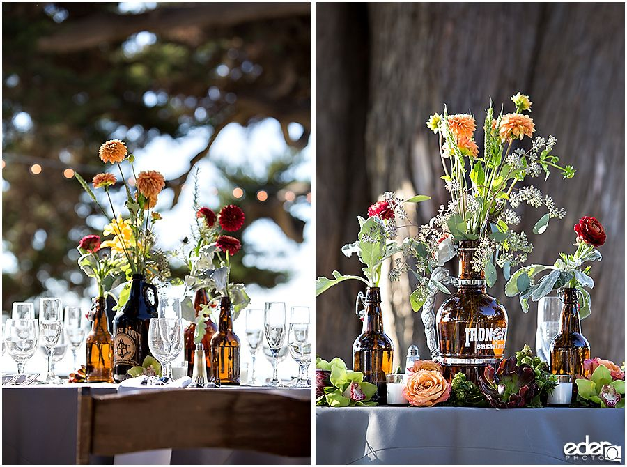 Craft Beer Wedding Decor Flower Ideas Centerpieces Martin Johnson House