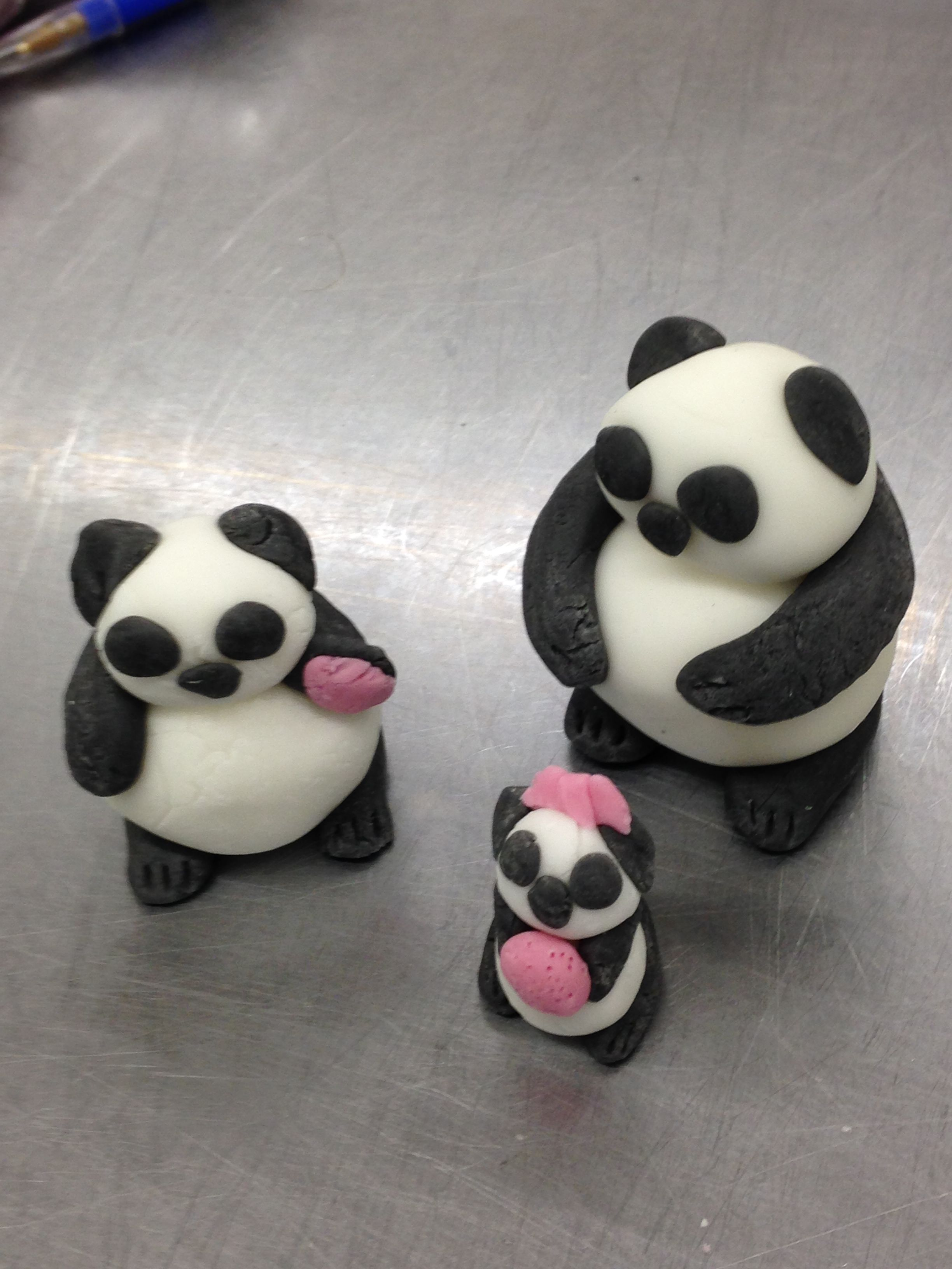 My panda's from my cake decorating course level 1