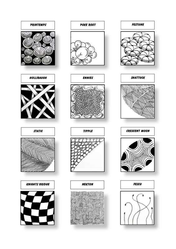 Cofono Czt Certified Zentangle Teacher Mustersammlung Zentangle Muster Verflechtung Muster 3d Zeichnen