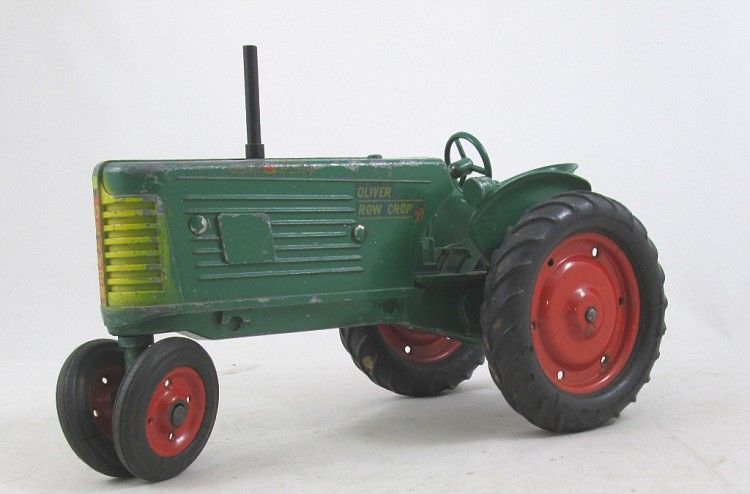 Farm Machine Vintage Metal Tin Sign Made USA Step Up to an Oliver 77 Tractor