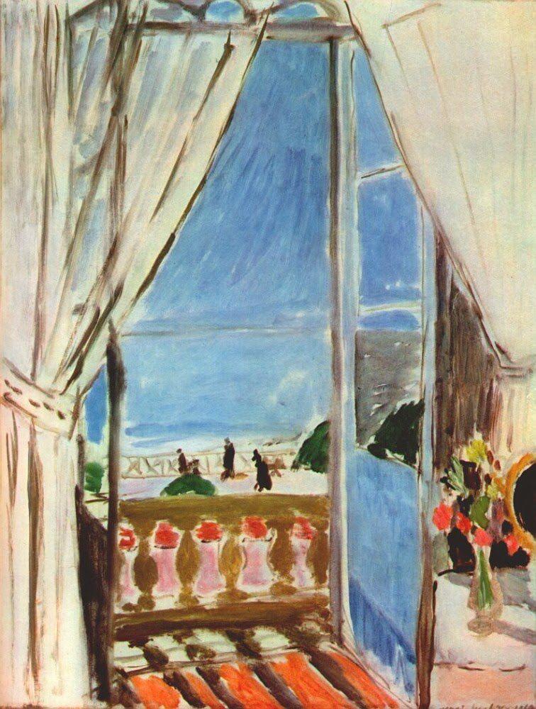 La fen tre ouverte a nice henri matisse 1919 mus e for Matisse fenetre ouverte