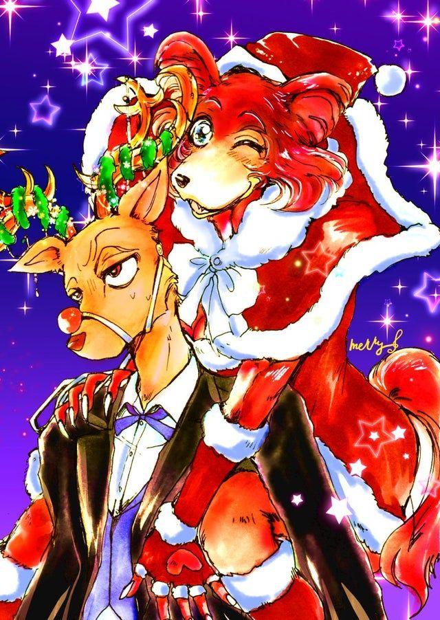 Holiday Dress Up [merihiru] Beastars Anime, Furry art