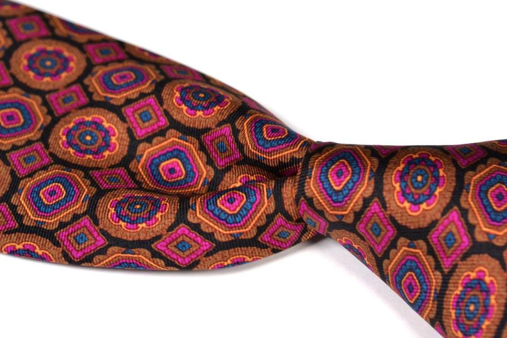 "STEFANO RICCI  Geometric Mosaic 100% Silk Satin Mens Tie - 3.625"" #StefanoRicci #NeckTie"