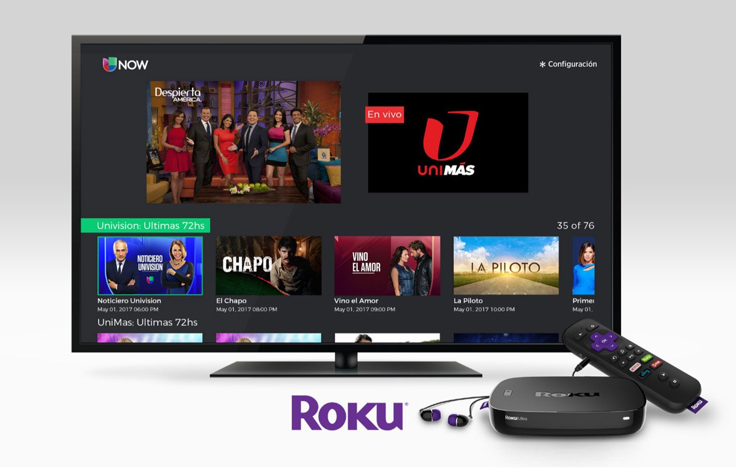 Univision Now brings live and ondemand streaming to Roku