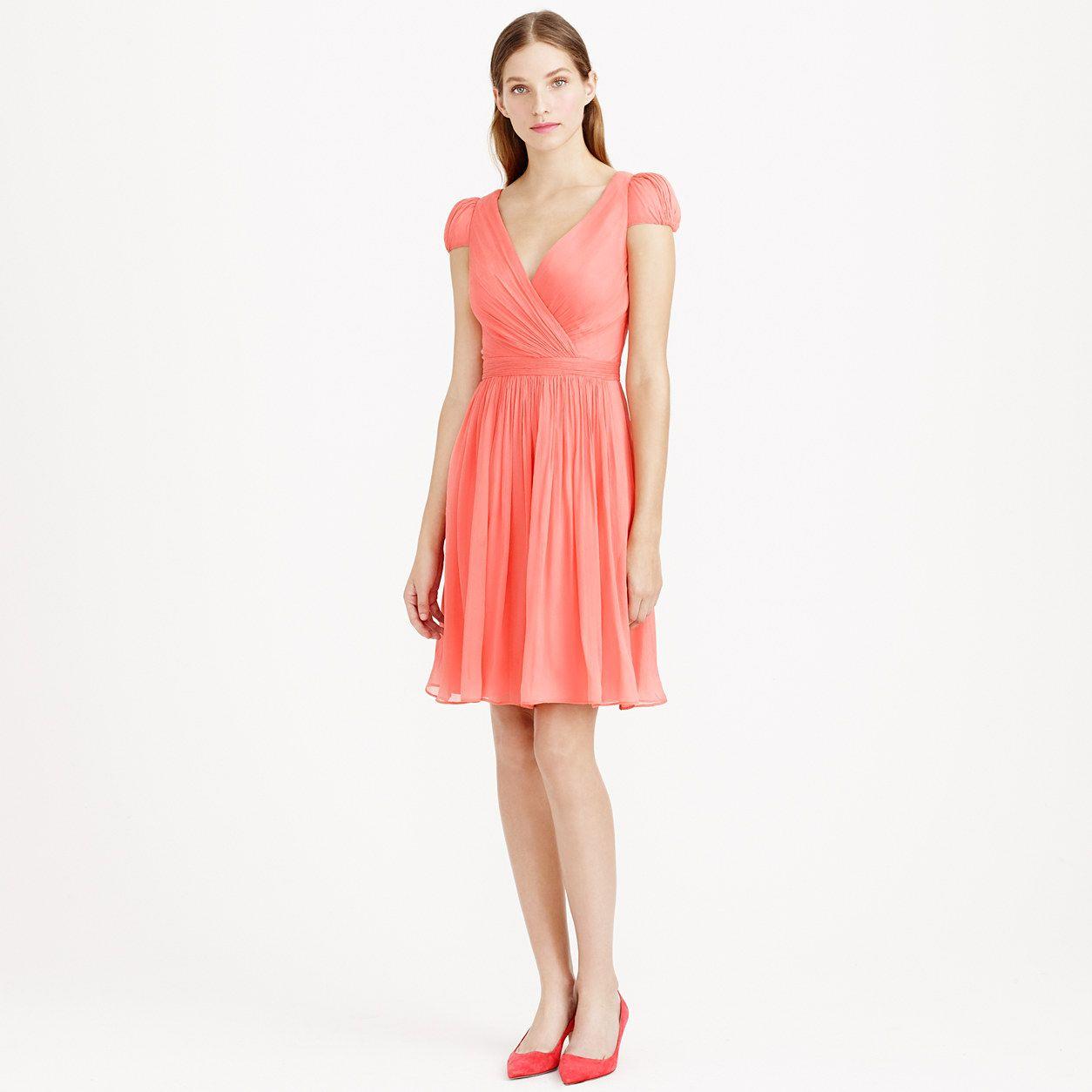 Mirabelle dress in silk chiffon : silk chiffon | J.Crew this dress ...