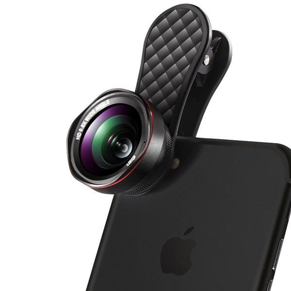 2 in 1 Phone Camera Lens Kit Wide Angle Lens & 15x Macro Lens For iPhones & Smartphones