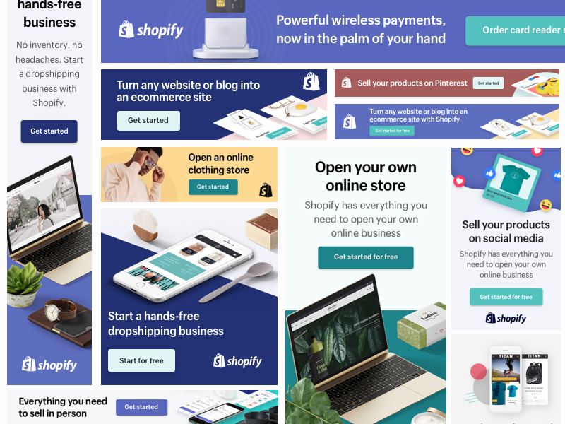 Shopify Partners Ad Banners | Google banner, Creative