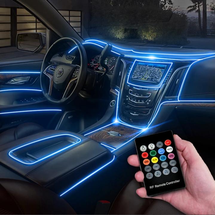 Photo of CarFitg™ Fiber Optic Multicolor LED Car Interior Ambient Light Kit 5