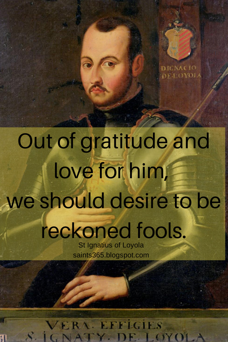 St Ignatius Quotes Saints 365 Five Favorites Vol 6. Saints Quotes On Gratitude