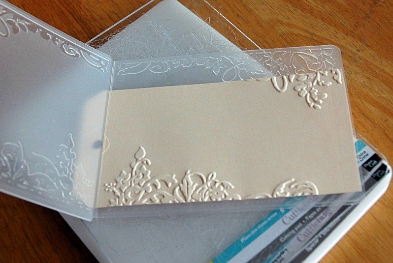 tuesday techniques  dry embossing  sarathings  paper