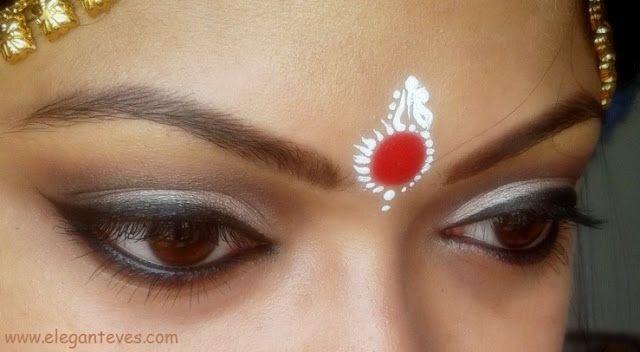 Elegant Eves: Bengali Bridal Eye Makeup: Soft Taupe Smokey Eyes