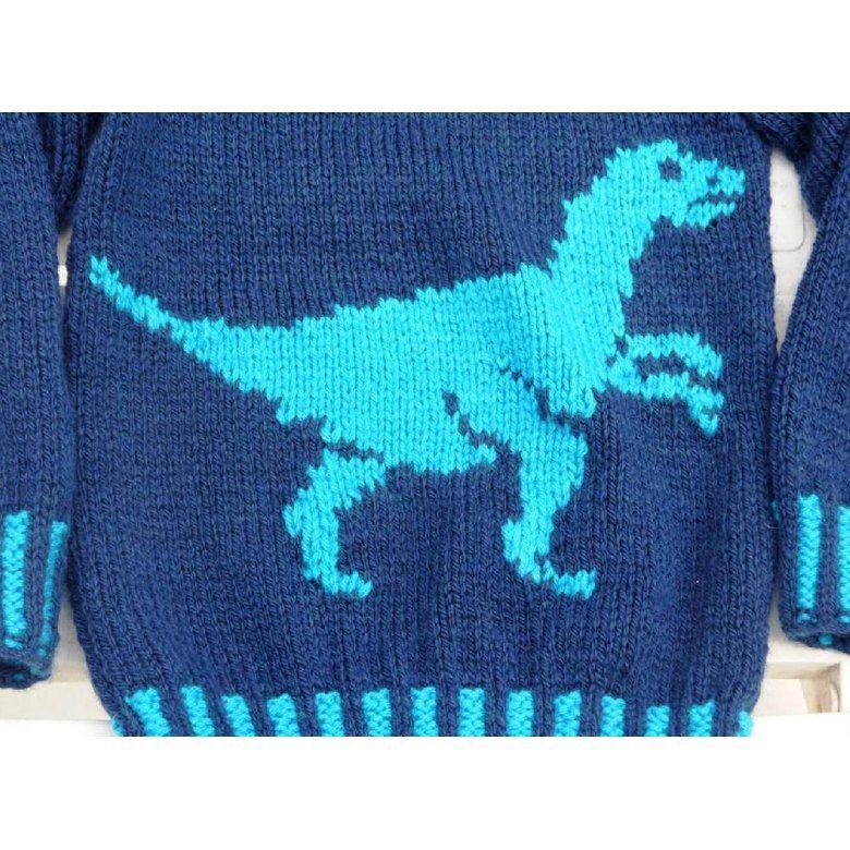 Dinosaur Sweater And Hat Velociraptor Knitting Pattern By