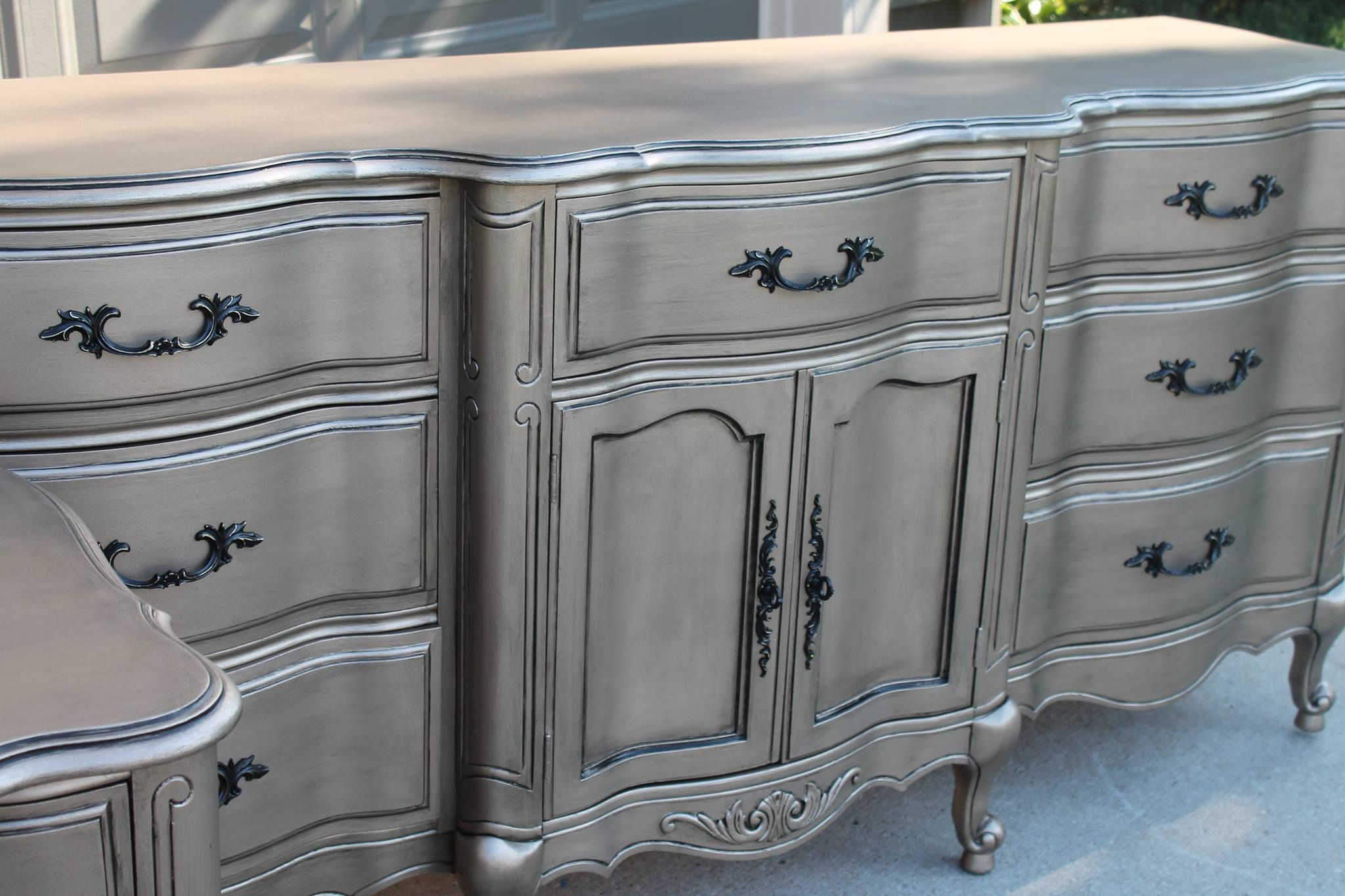 Silver Painted Chest Jennifer Allwood From The Magic Brush Created With Modern Masters Warm