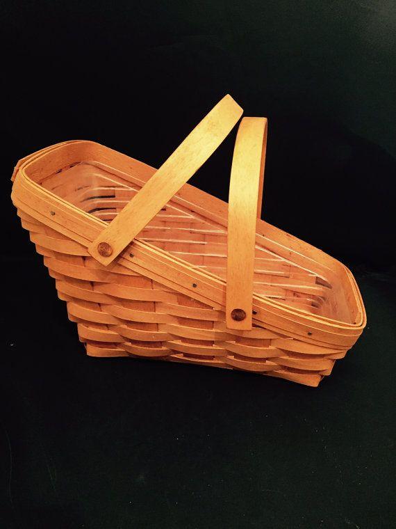 Longaberger Basket Handwoven 13 Inch Fruit And Vegetable 1993 | $25.50 (Vintage Item on Etsy)