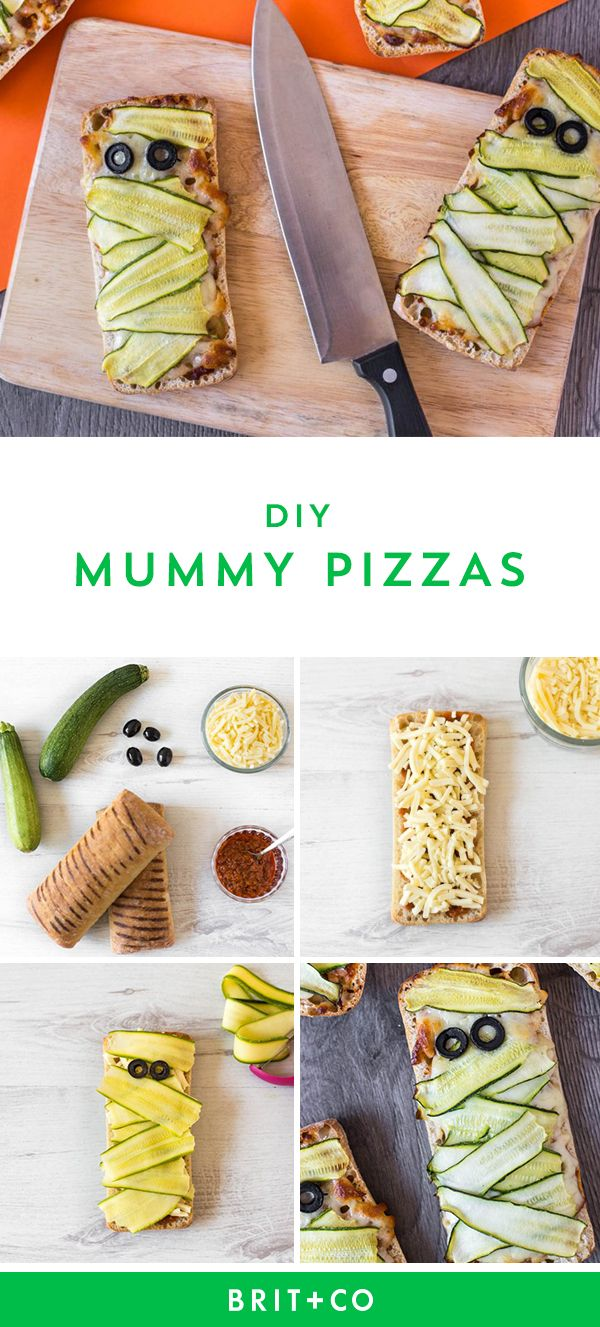 Save this to make DIY Mummy Pizzas.
