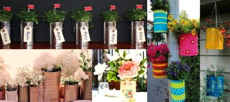 Como decorar latas para macetas buscar con google - Ideas para decorar macetas ...