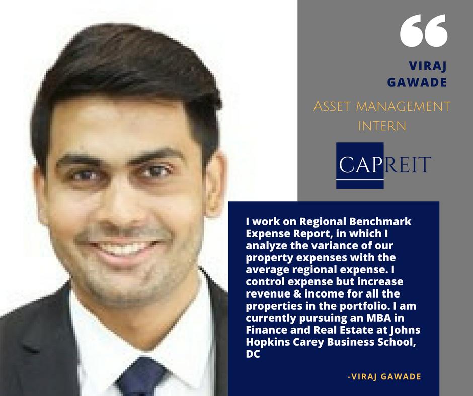 CAPREIT Asset Management Team features Viraj Gawade Asset