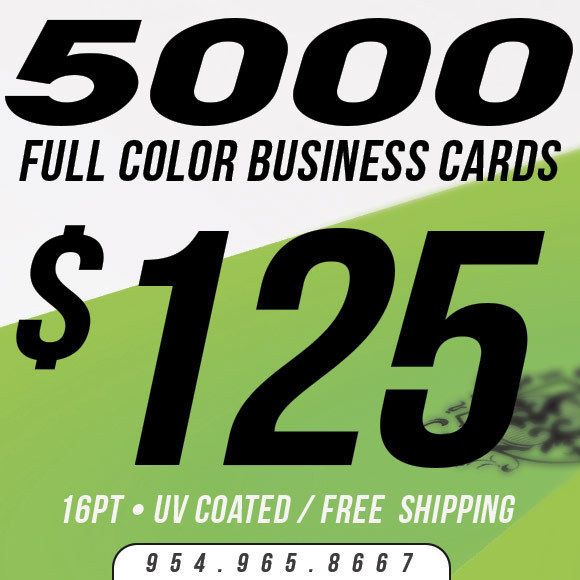 5000 business card printing custom 16pt uv coated ultra glossy full color - 5000 Business Cards