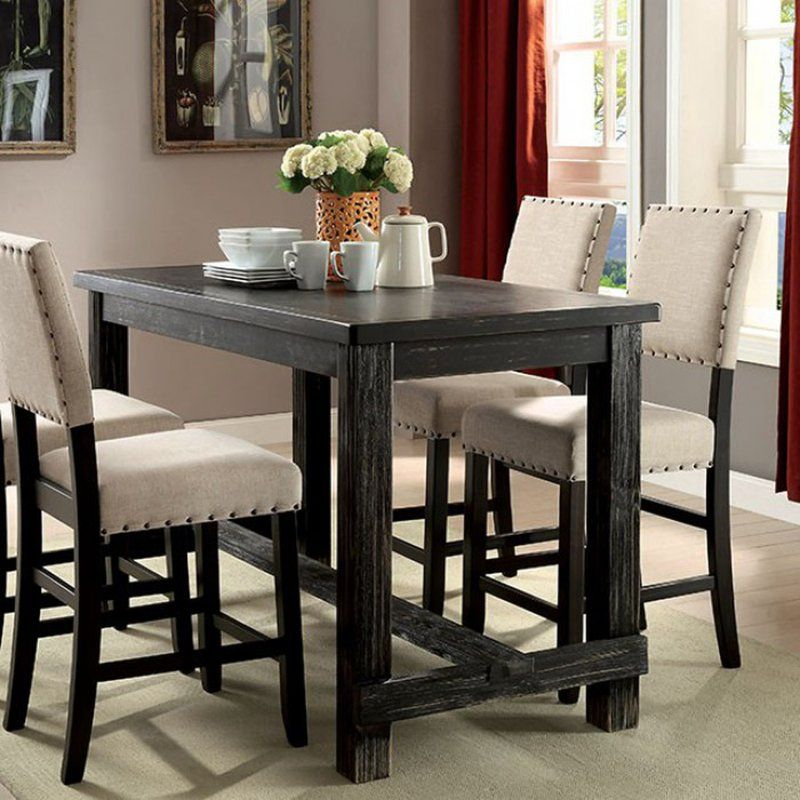 Leahy Counter Height Solid Wood Dining Table Counter Height Dining Table Dining Room Sets Dining Table In Kitchen