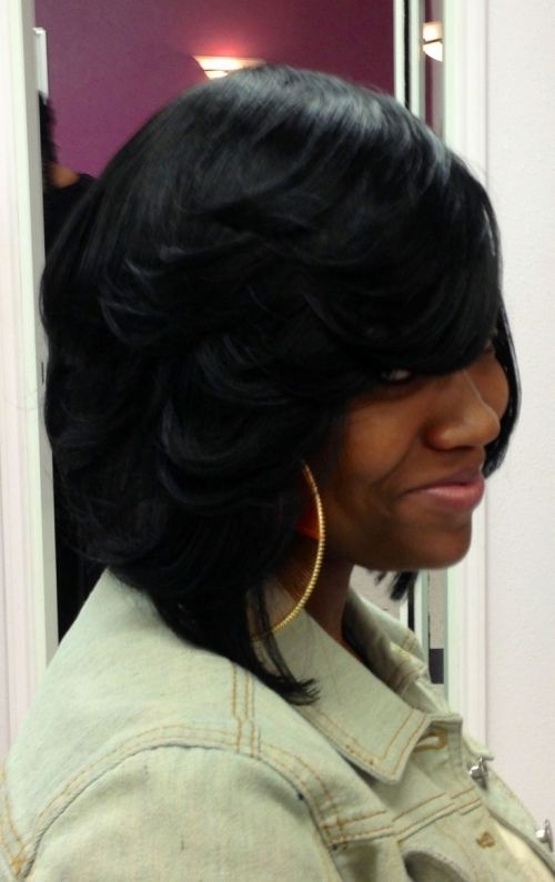 Feathered Hairstyles For Black Women Pictures You Curl Bob