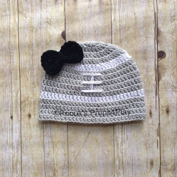 96421cce369 Oakland Raiders Inspired Football Beanie by Props4Play on Etsy ...