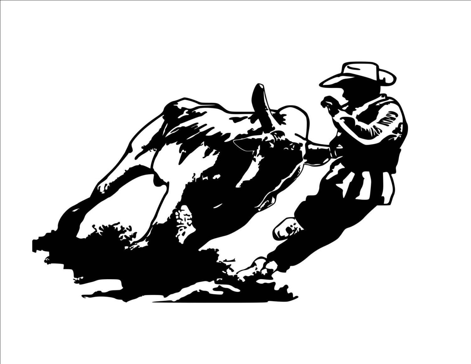 Horse Rodeo Bull Fighter Wall Decal Rodeo Sticker 36