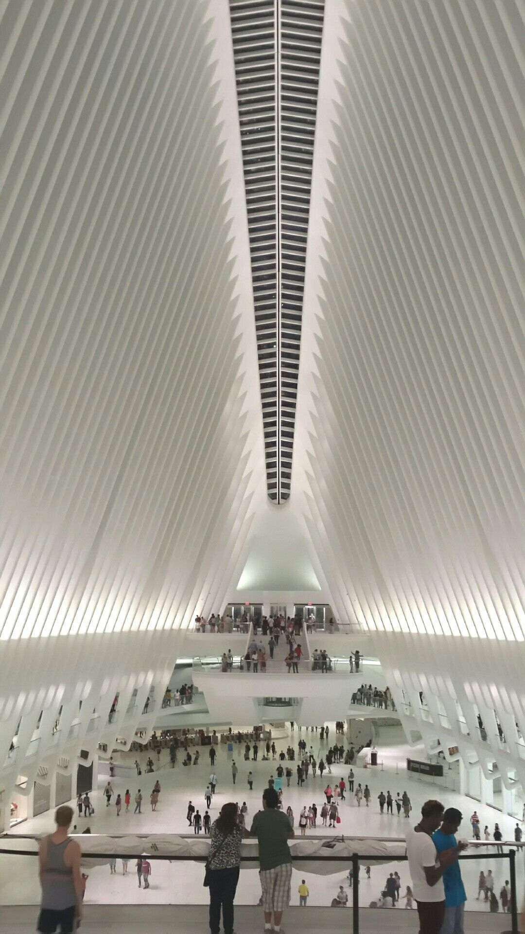 The Oculus At Wtc Is A Train Station Hub And Westfield Mall In