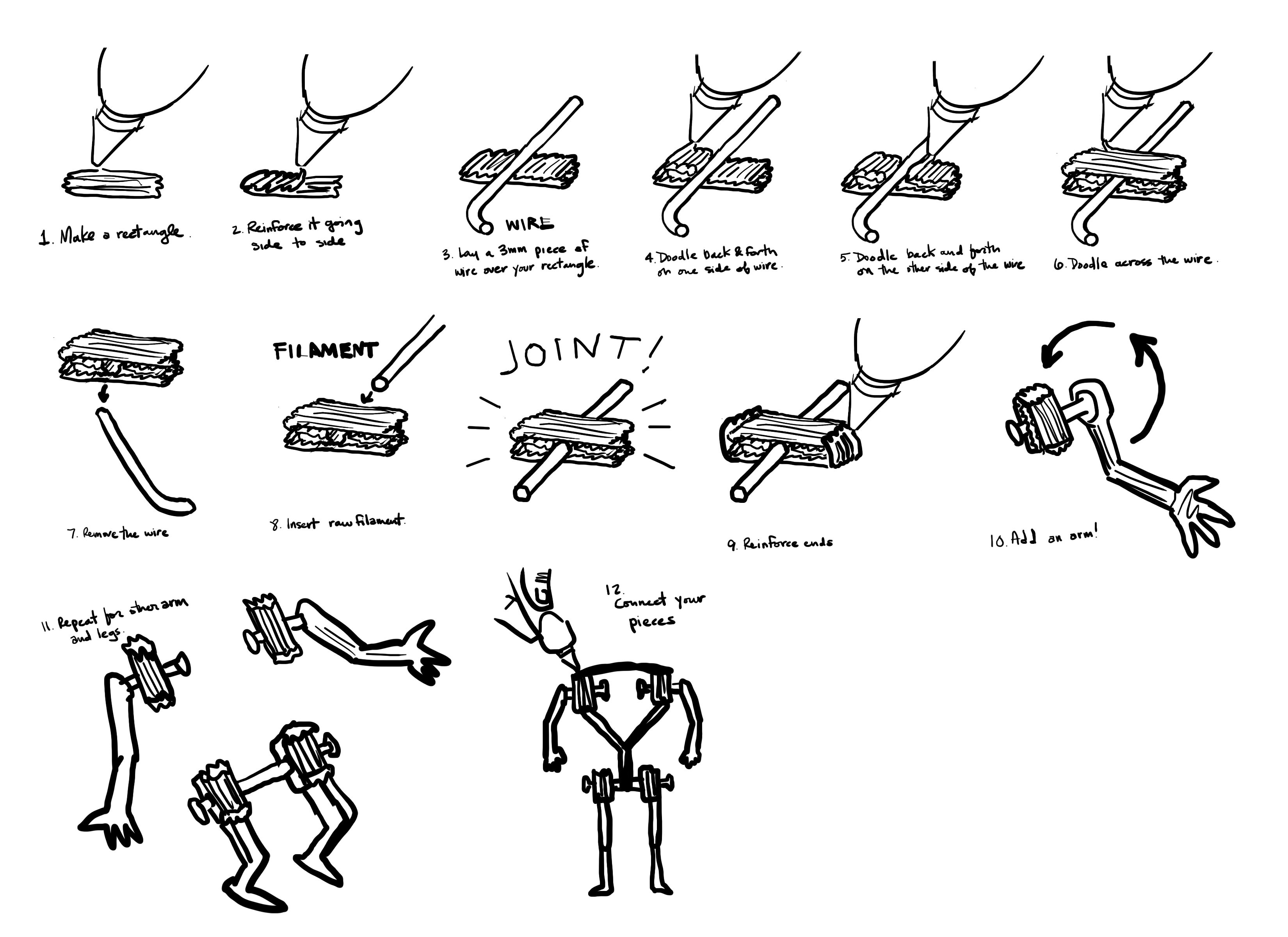 How to: Create joints with   3doodler, 3d pen and Create