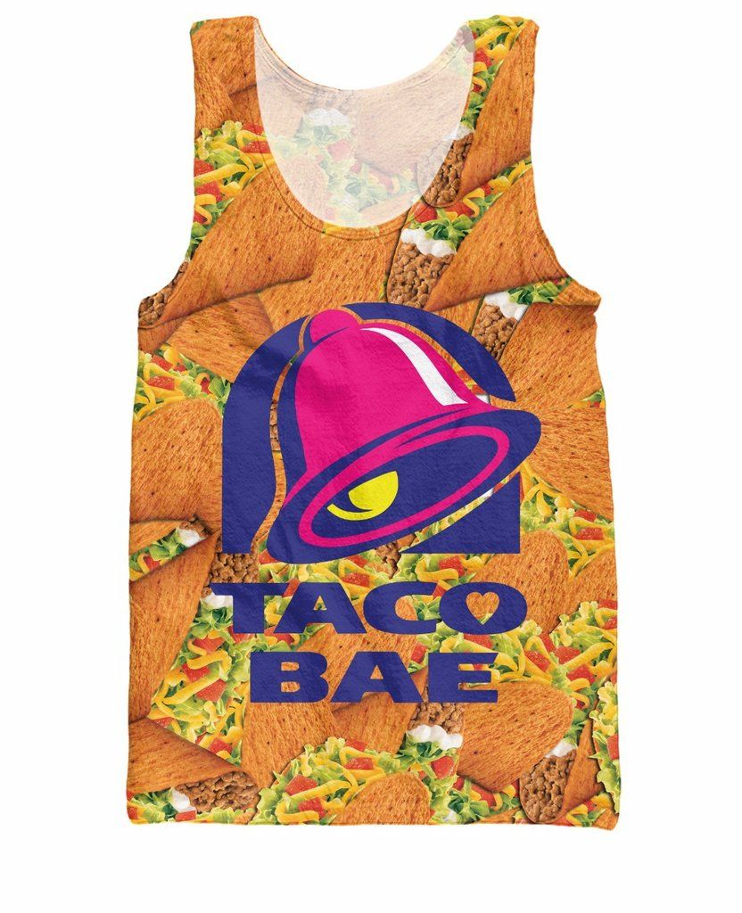 Taco Bae Tank Top Taco Bell fast food royalty Summer Style
