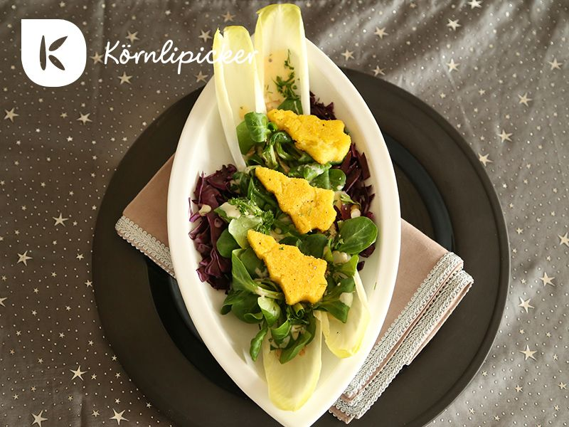 #vegan polenta on salad from #koernlipicker