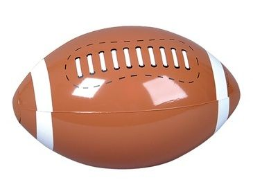 Brown Inflatable American Football Beach Ball made from high quality rubber featuring white stitching detail and professionally sealed for durability
