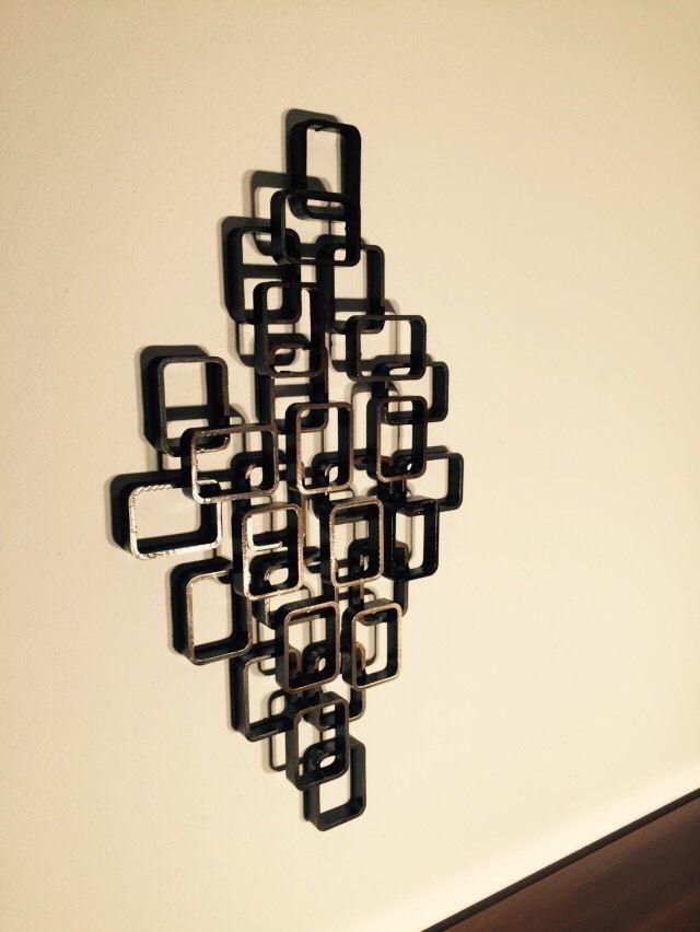 Huge Brutalist Abstract Metal Wall Sculpture Mid Century Modern Jere ...
