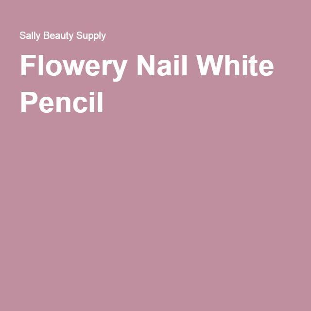 Flowery Nail White Pencil