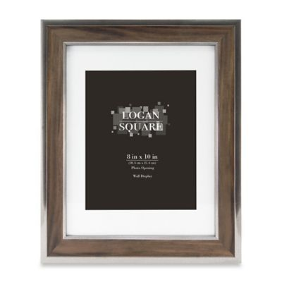 Logan 8 X 10 Wood Grain Picture Frame With Mat In Walnutsilver In