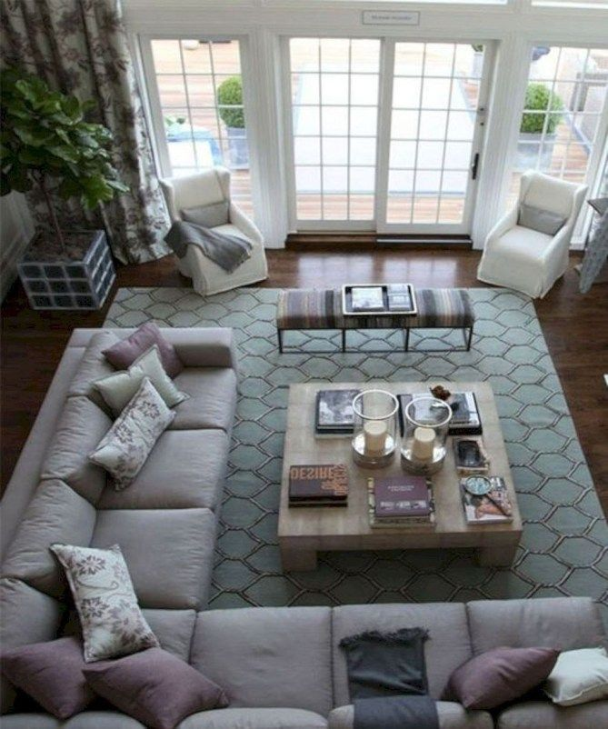 30+ Relaxing Large Living Room Decorating Ideas