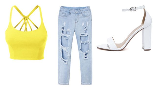 """""""$55 Summer Funk"""" by rachellparis ❤ liked on Polyvore featuring LE3NO and My Delicious"""
