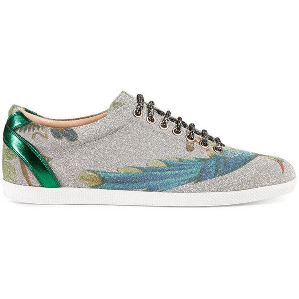 45cc86ed40f Gucci Sparkling Fabric Low-Top Sneaker ( 650) ❤ liked on Polyvore featuring  shoes