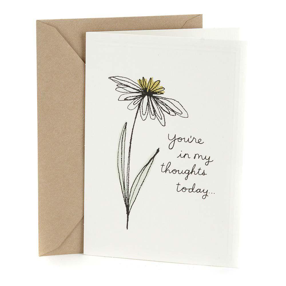 Hallmark in my thoughts sympathy greeting card walmart