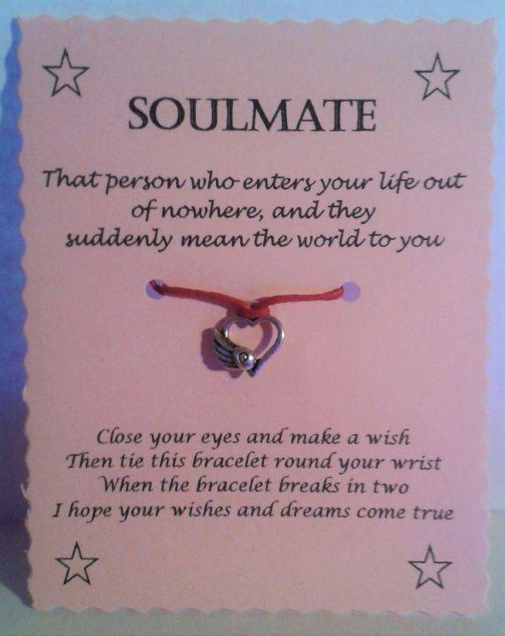 Soulmate Wish Bracelet Card Friendship By Gemsnjewells