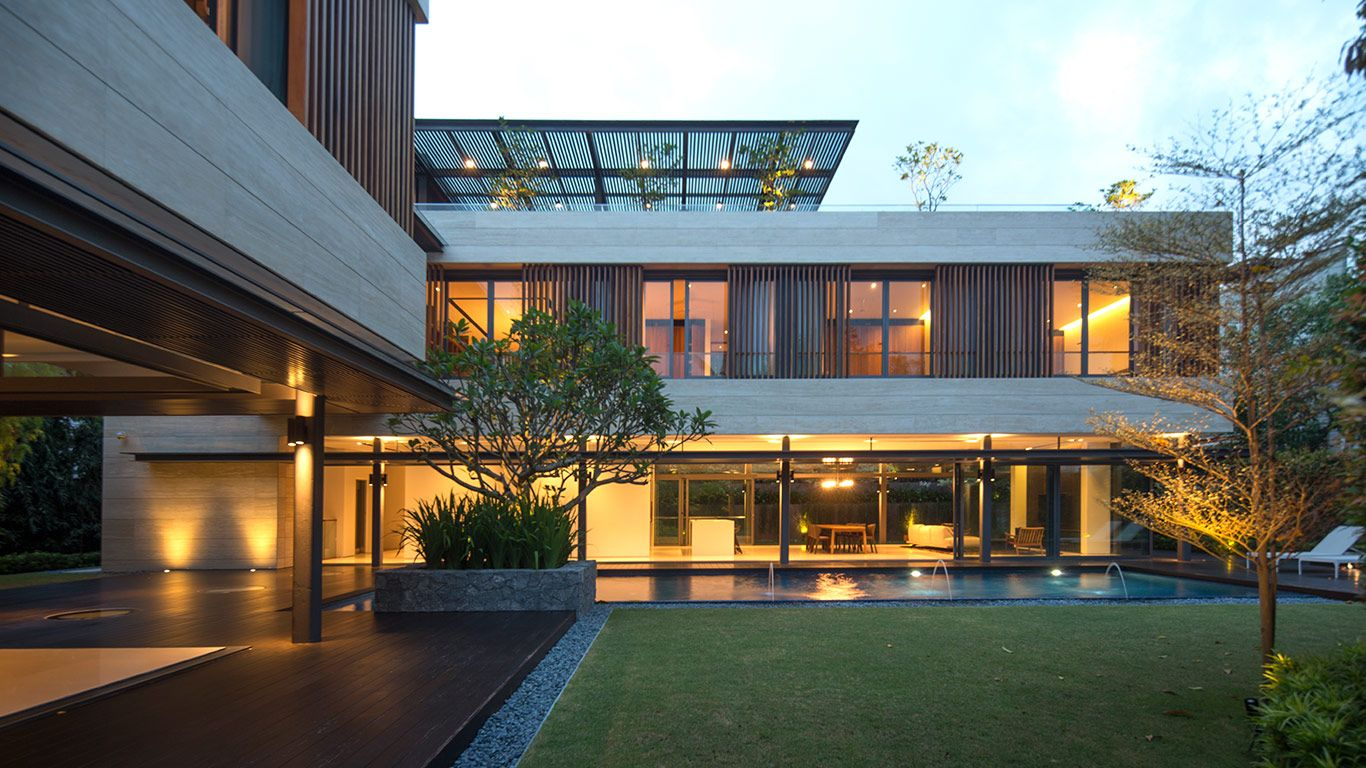 Secret Garden House Luxurious Contemporary Family Home In Singapore 10 Stunning Homes Architecture Modern House Design Modern House