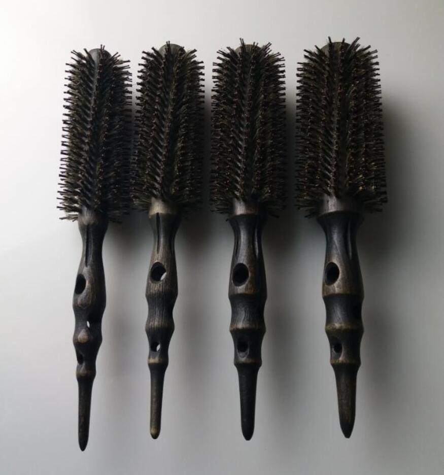 Hot Iron Brush AntiStatic Hiheat Resistant Carbon Wood Brush Pro